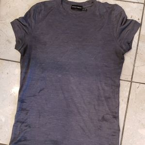 Giorgio Armani charcoal gray silk T-shirt